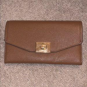 Michael Kors Pebble Leather Wallet Brown/Cognac